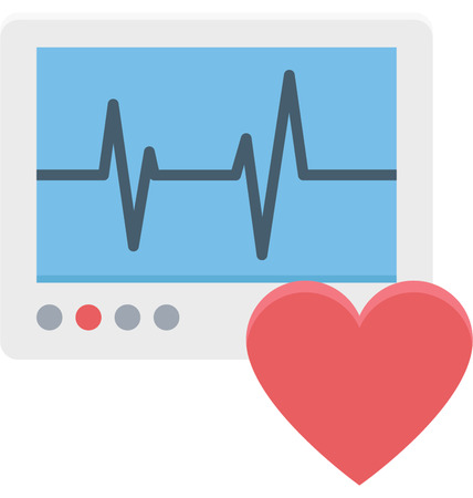 This is Ecg Machine Color Vector Icon very useful for your health, fitness and medical related project, buy this vector and make more catchy Your Project
