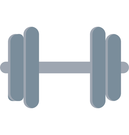 This is Dumbbell Color Vector Icon very useful for your health, fitness and medical related project, buy this vector and make more catchy Your Project