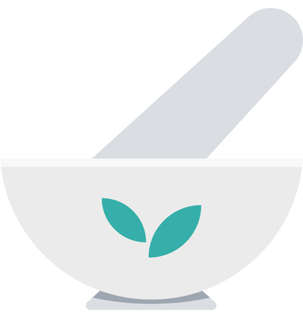 This is Mortar and Pestle Color Vector Icon very useful for your health, fitness and medical related project, buy this vector and make more catchy Your Project Ilustração