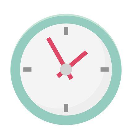 Clock Vector Illustration Icon Çizim