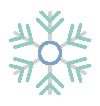 Snowflake Vector Illustration Icon