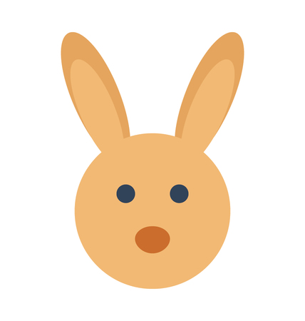 Easter Bunny Vector Illustration Icon