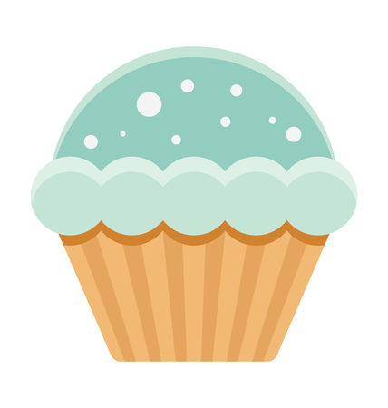 Cupcake Vector Illustration Icon Çizim