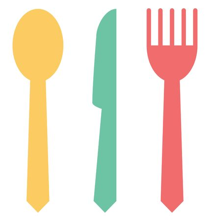 Cutlery Line  Vector Isolated Icon customized and editable