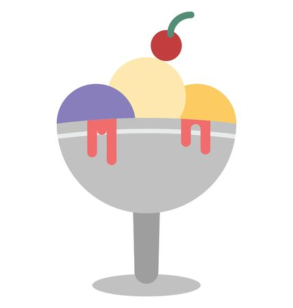 Ice Cream Cup Isolated Vector Icon which can easily modify or edit
