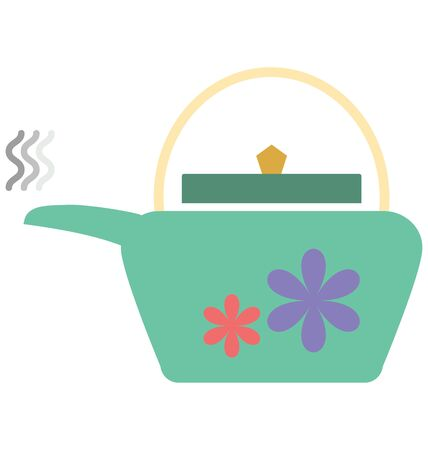 Teakettle Isolated Vector Icon which can easily modify or edit