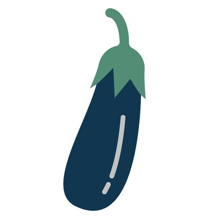 Brinjal Isolated Vector Icon which can easily modify or edit