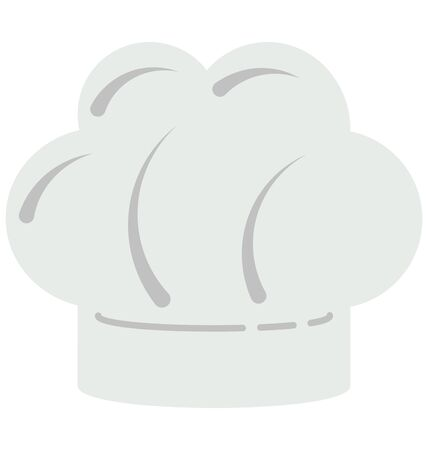 Chef Hat  Color Vector Illustration Isolated Fully Editable