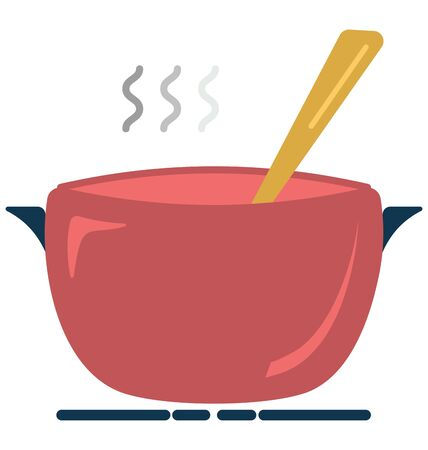 Cooking Pot Isolated Vector Icon which can easily modify or edit