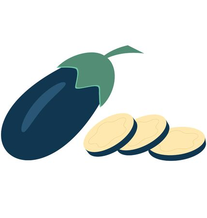 Brinjal  Isolated Vector Icon which can easily modify or edit Иллюстрация