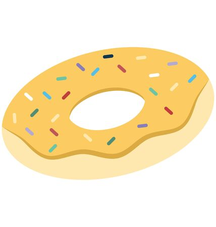 Donut Isolated Vector Icon which can easily modify or edit