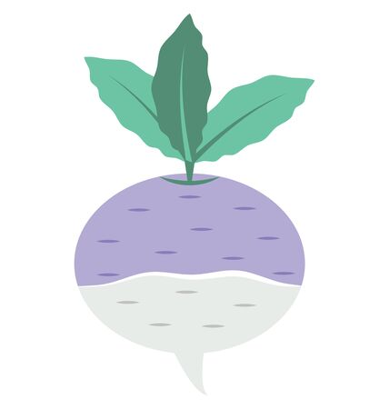 Turnip Isolated Vector Icon which can easily modify or edit Ilustrace