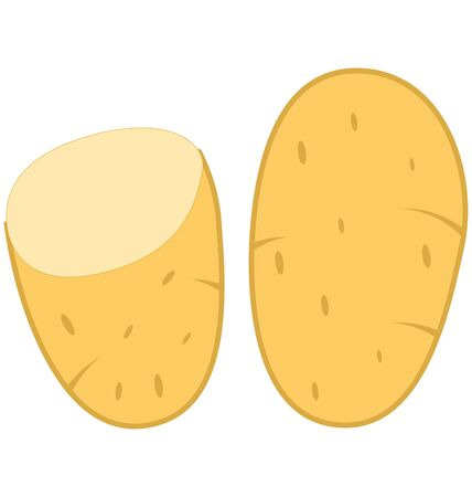 Potato Isolated Vector Icon which can easily modify or edit
