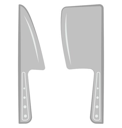 Cleaver And Knife Isolated Vector Icon which can easily modify or edit