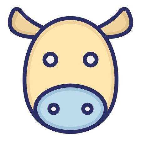 Cow  Isolated Vector Icon which can be easily modified or edited as you want Illustration