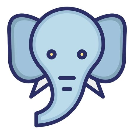 Elephant  Isolated Vector Icon Illusztráció