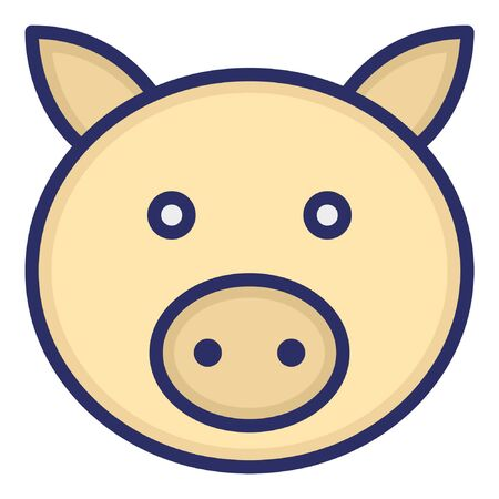 Pig Isolated Vector Icon which can be easily modified or edited as you want Ilustración de vector