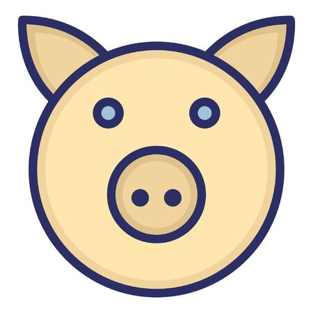 Pig  Isolated Vector Icon which can be easily modified or edited as you want Illustration