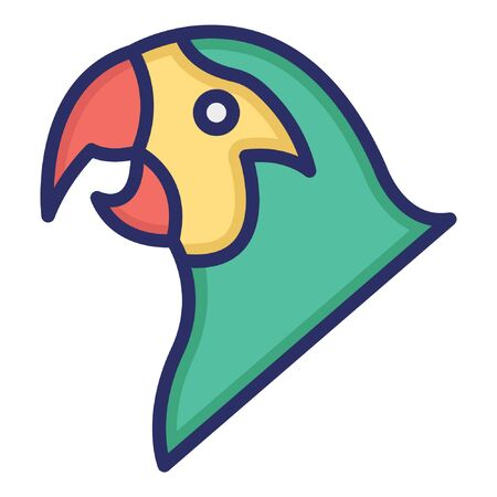 Parrot  Isolated Vector Icon which can be easily modified or edited as you want
