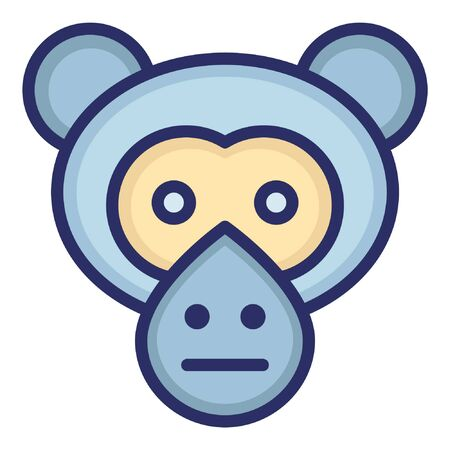Monkey  Isolated Vector Icon which can be easily modified or edited as you want