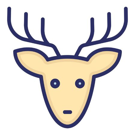 Reindeer  Isolated Vector Icon which can be easily modified or edited as you want Illustration