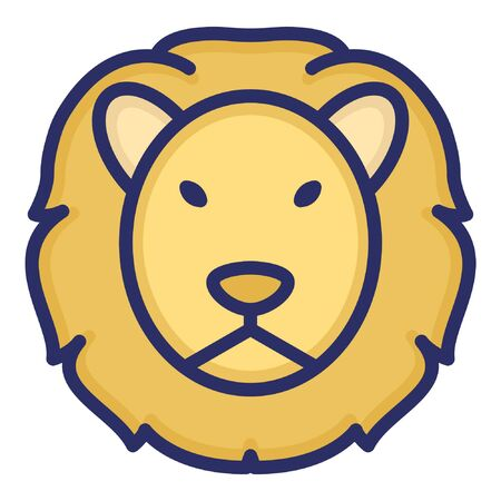 Lion  Isolated Vector Icon which can be easily modified or edited as you want Ilustrace
