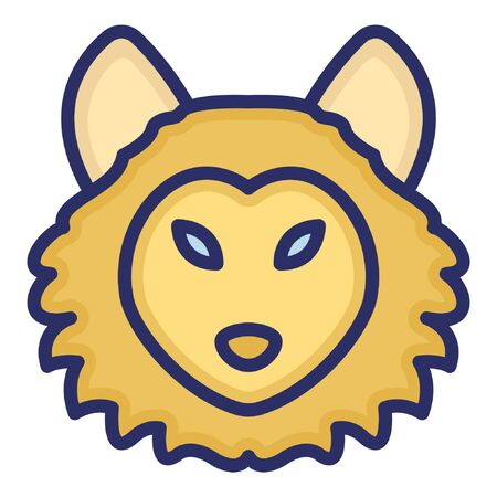 Lion  Isolated Vector Icon which can be easily modified or edited as you want Ilustração