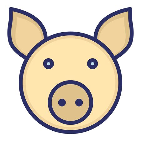 Wild Boar  Isolated Vector Icon which can be easily modified or edited as you want Illustration