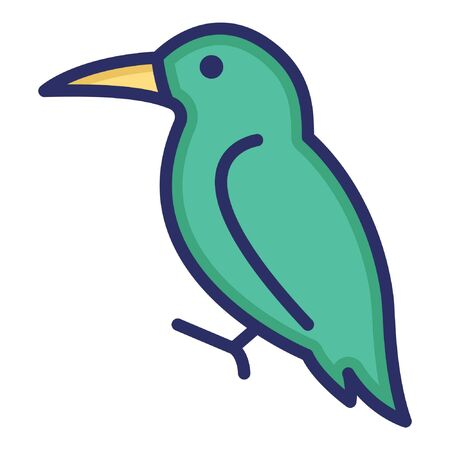 Hummingbird  Isolated Vector Icon which can be easily modified or edited as you want Çizim