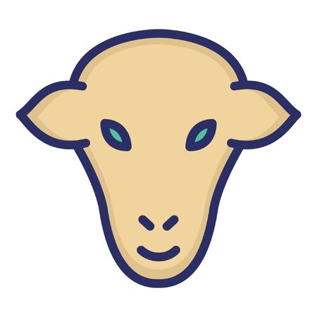 Goat  Isolated Vector Icon which can be easily modified or edited as you want