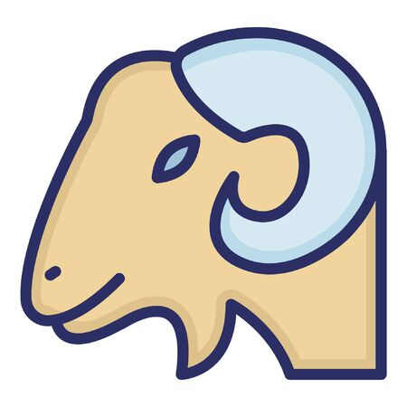 Mountain Goat  Isolated Vector Icon which can be easily modified or edited as you want
