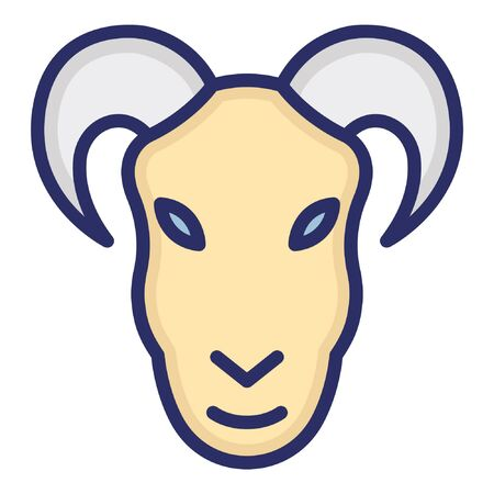 Mouflon Goat  Isolated Vector Icon which can be easily modified or edited as you want