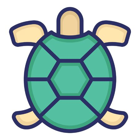 Tortoise  Isolated Vector Icon which can be easily modified or edited as you want