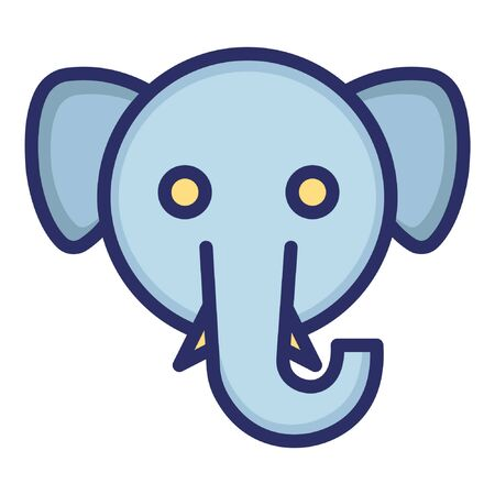 Elephant  Isolated Vector Icon which can be easily modified or edited as you want