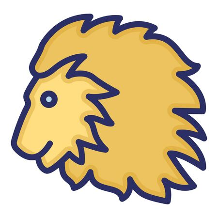 Lion Isolated Vector Icon which can be easily modified or edited Ilustração
