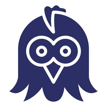 Owl Isolated Vector Icon which can be easily modified or edited