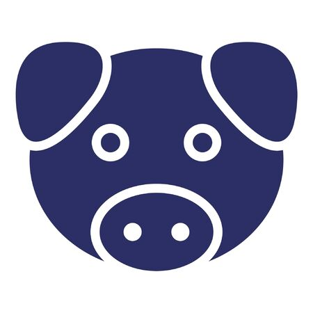 Pig Isolated Vector Icon which can be easily modified or edited