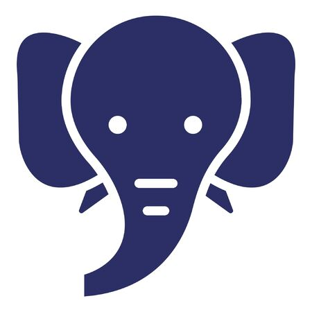 Elephant Isolated Vector Icon which can be easily modified or edited