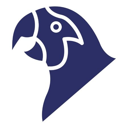 Parrot Isolated Vector Icon which can be easily modified or edited