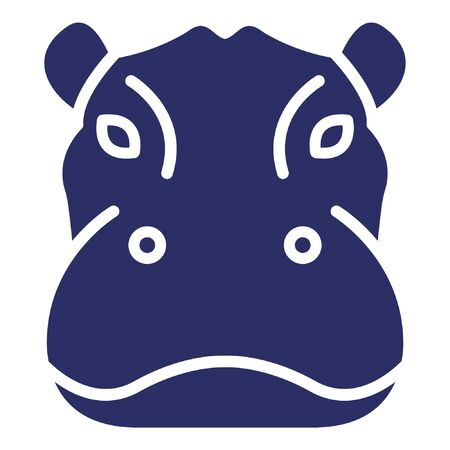 Hippopotamus Vector Icon editable avatar icon