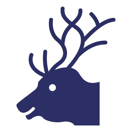 Reindeer Isolated Vector Icon which can be easily modified or edited as you want