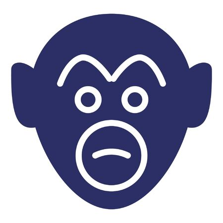 Monkey Isolated Vector Icon which can be easily modified or edited