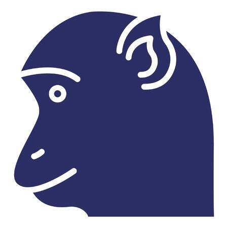 Chimpanzee  Isolated Vector Icon