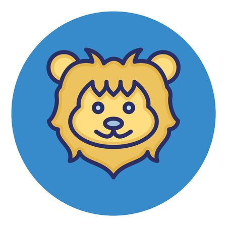 Lion  Isolated Vector Icon 向量圖像