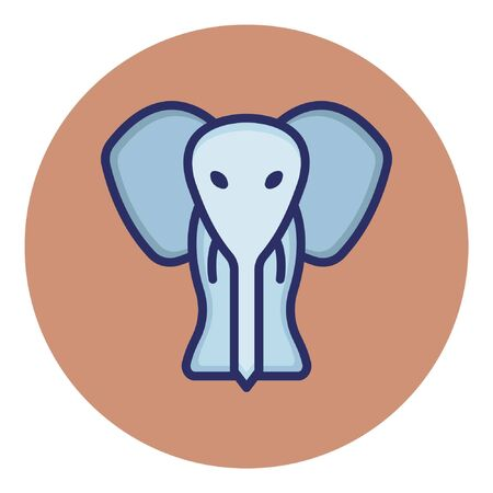 Elephant  Isolated Vector Icon Illustration