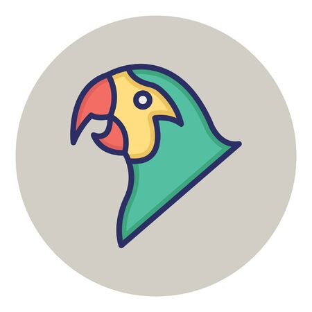 Parrot  Isolated Vector Icon  イラスト・ベクター素材