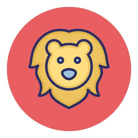 Lion Isolated Vector Icon