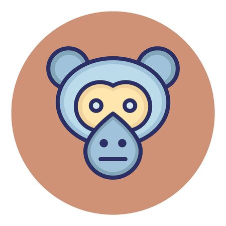 Monkey  Isolated Vector Icon which
