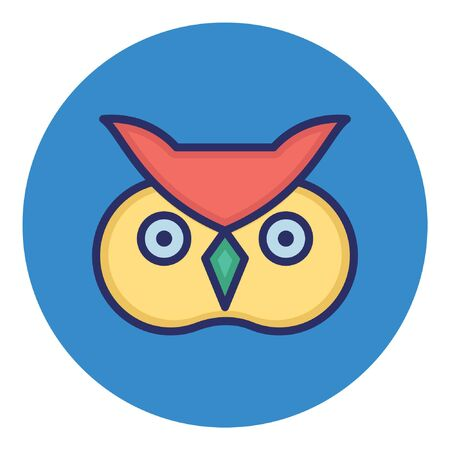 Owl  Isolated Vector Icon Illustration