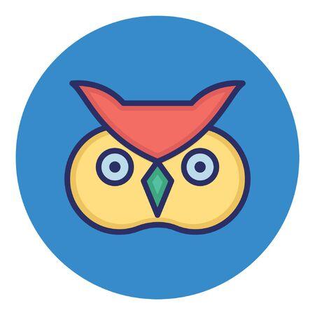 Owl  Isolated Vector Icon Иллюстрация